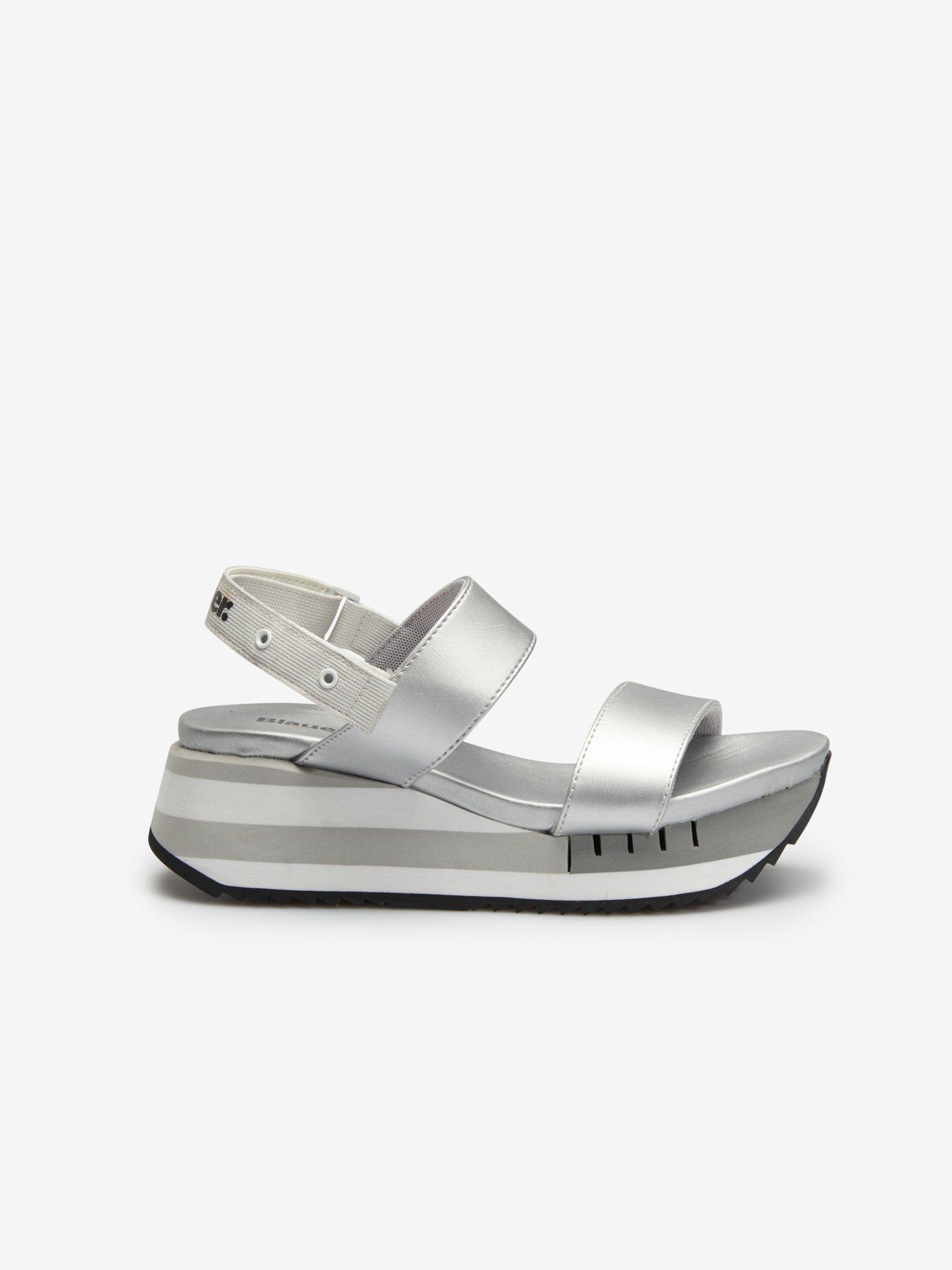 Charlotte Silver Sandals - Blauer
