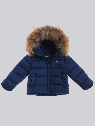 LUIS BABY DOWN JACKET WITH HOOD AND FUR