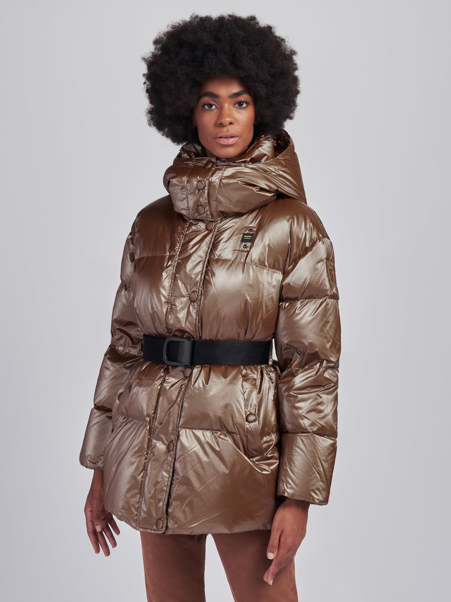 BETTY PEARLY DOWN JACKET WITH BELT - Blauer