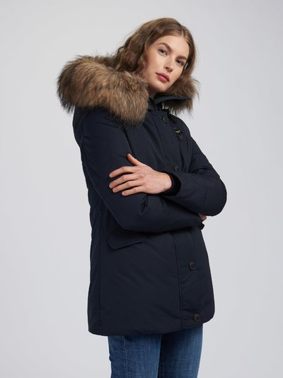 RUTH PARKA IN TASLAN WITH FUR TRIM