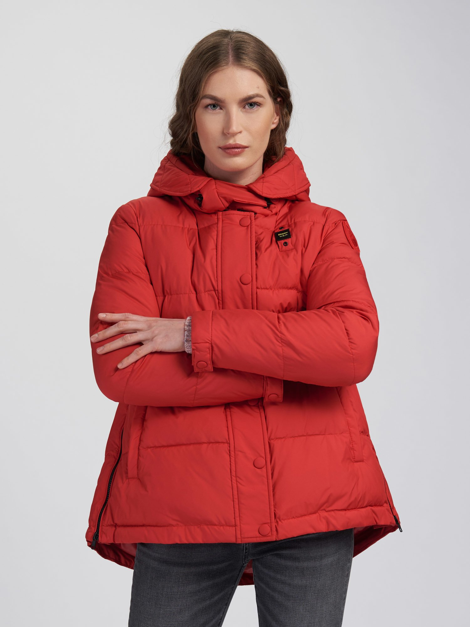 Blauer - STEPHANIE WOOL BLEND PADDED JACKET - Red Bloode - Blauer