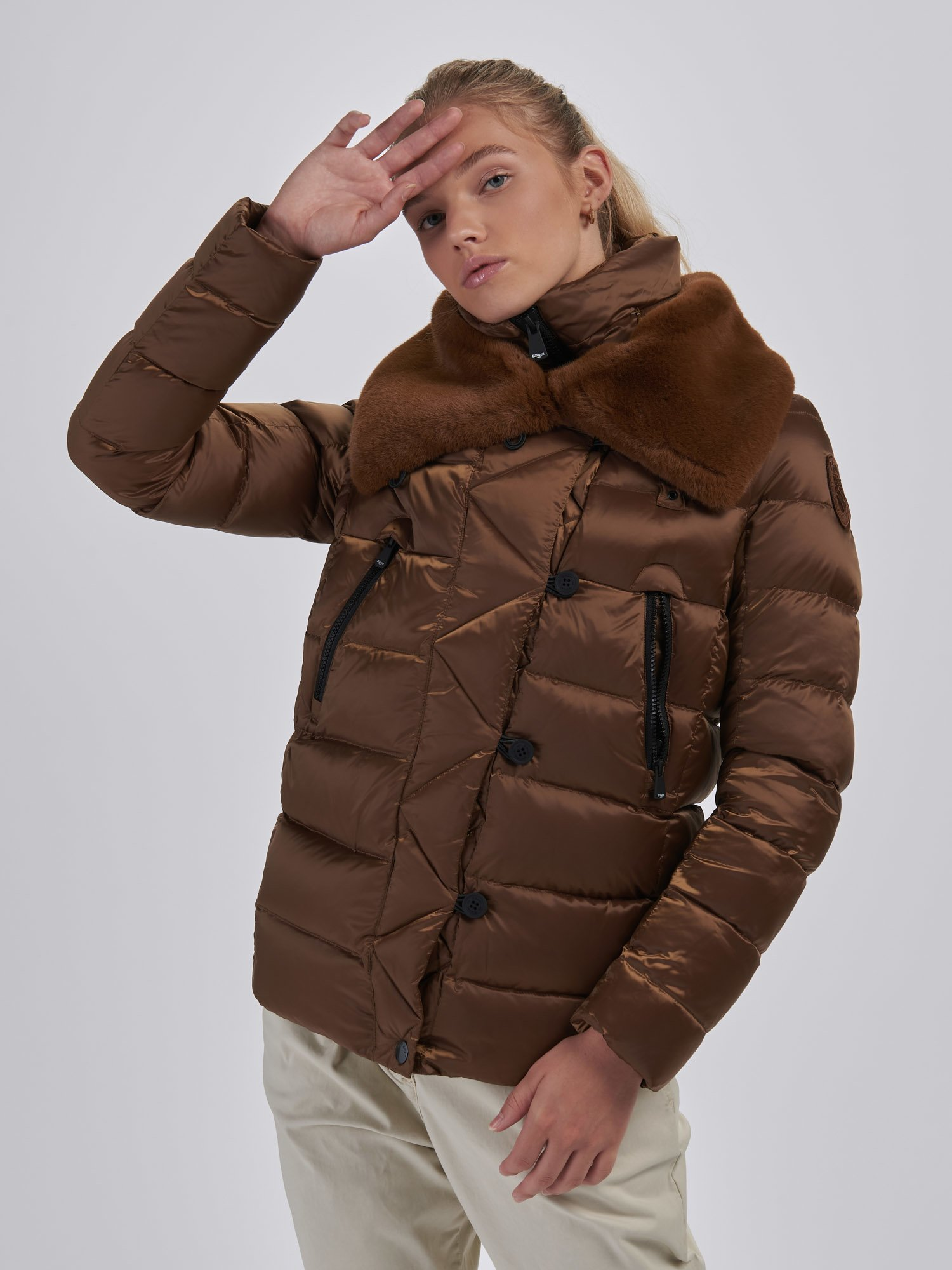 DEBORAH DOUBLE NECK DOWN JACKET - Blauer