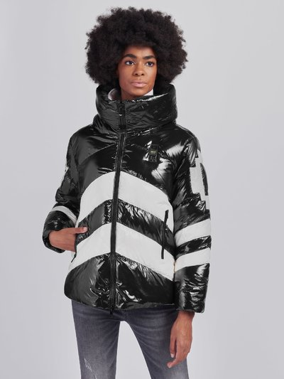 AMY TWO-TONE DOWN JACKET WITH HOOD