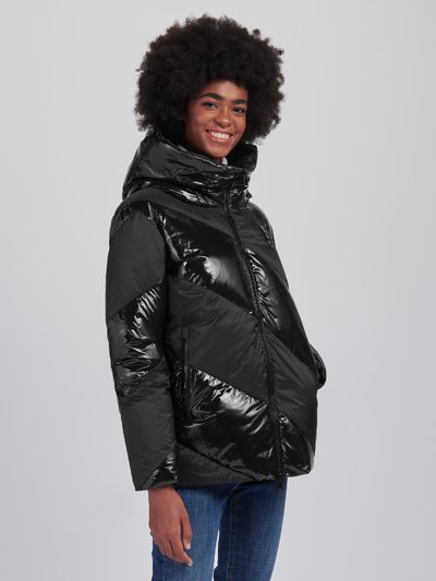 ANNA SHINY-MATTE DOWN JACKET