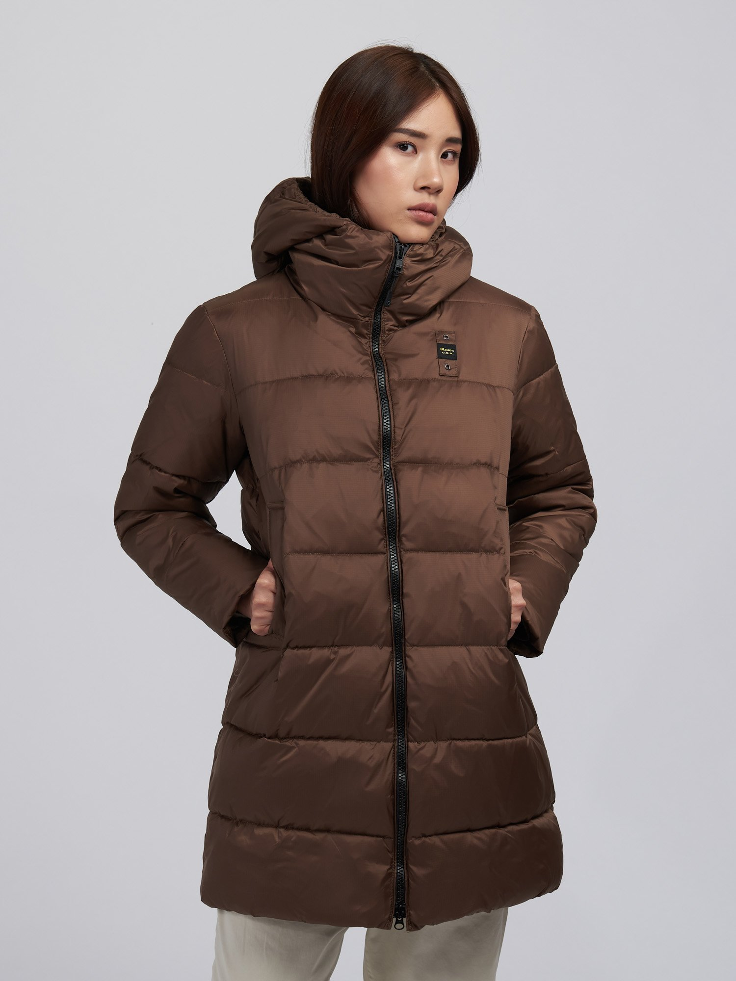 KATHERINE NYLON LONG PADDED JACKET - Blauer