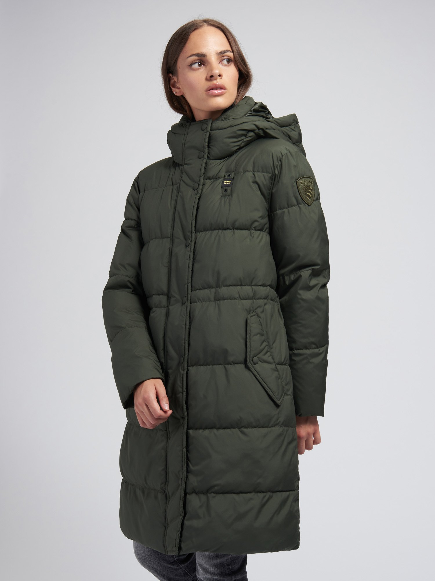 ASHLEY WOOL BLEND LONG PADDED JACKET - Blauer