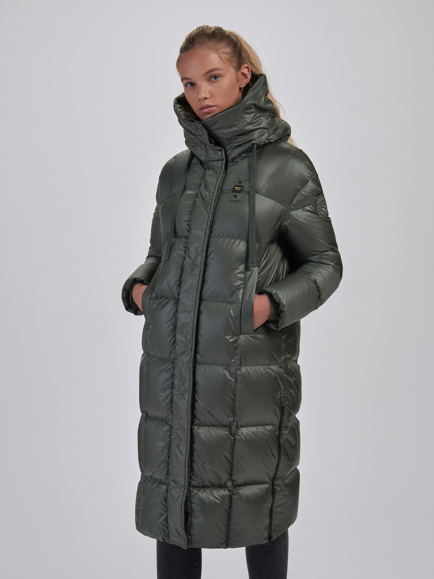 Blauer - MARIE SHINY LONG DOWN JACKET - Wild Linden - Blauer