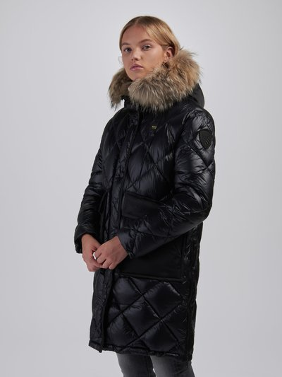 DIANE LONG DOWN JACKET WITH SIDE SLITS