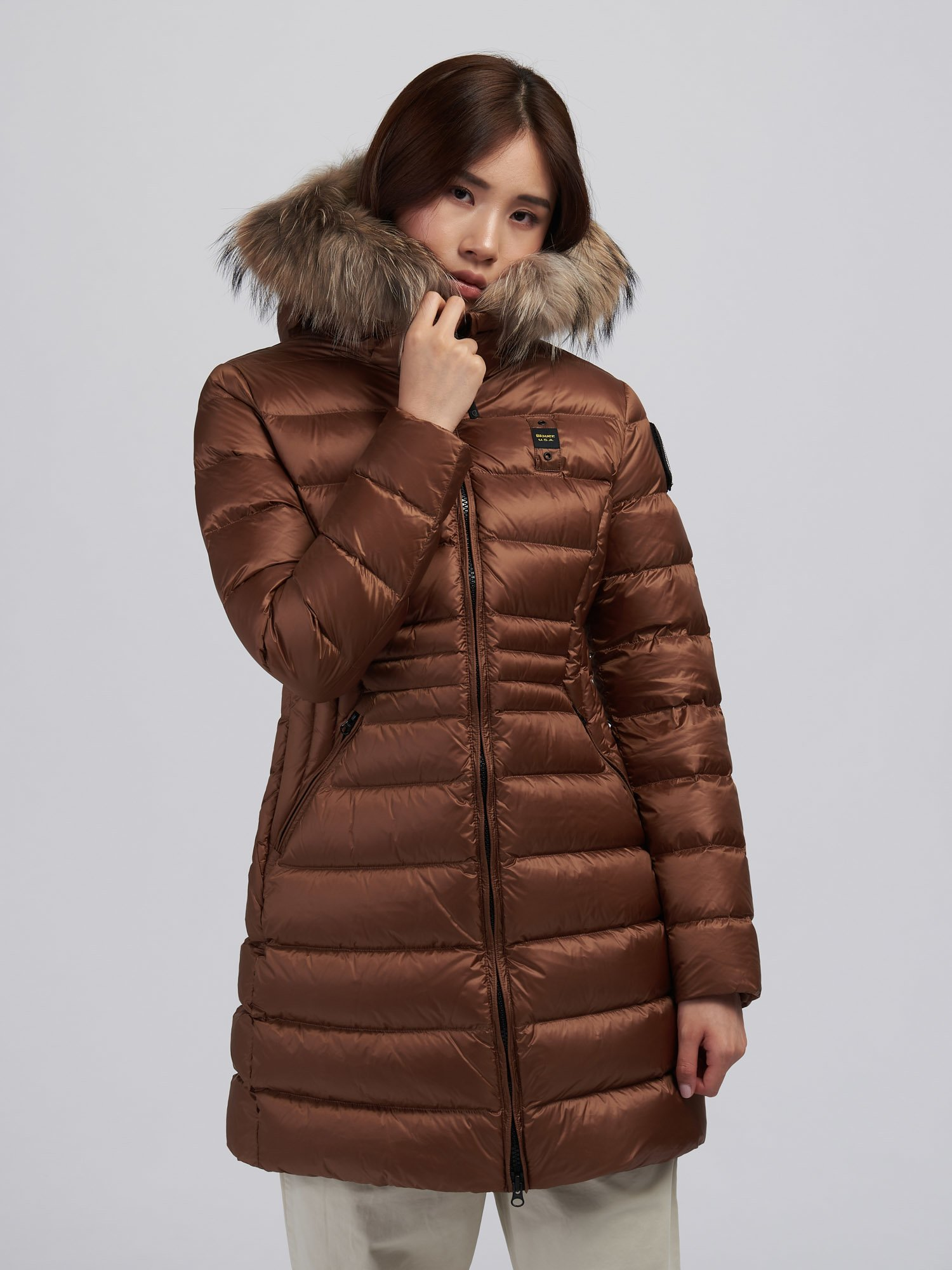 EVELYN FLARED LONG DOWN JACKET - Blauer