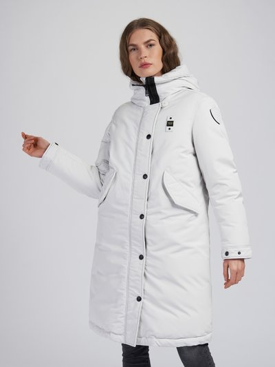 JUDITH LONG PARKA IN LIGHT TASLAN
