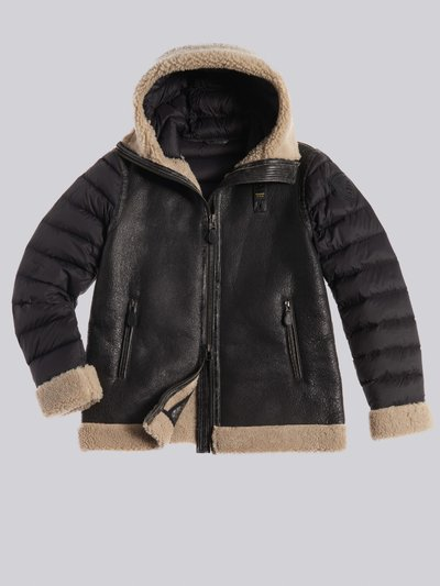 LINDA SUEDE SHEARLING WITH HOOD
