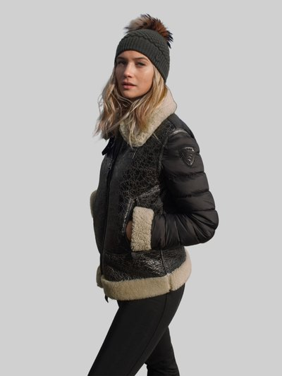 BARBARA SHEARLING WITH LARGE COLLAR