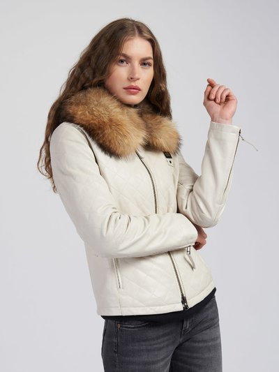 DOROTHY DIAMOND-QUILTED LEATHER JACKET
