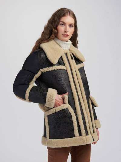 ELIZABETH SHEARLING COAT