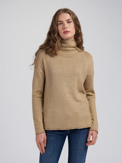TURTLENECK WITH STRIPED DECORATION