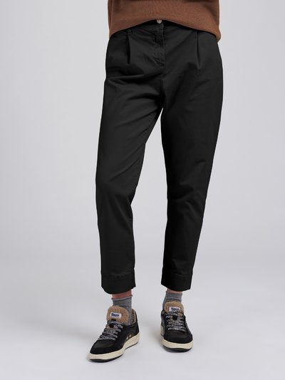 GARMENT DYED STRECH SATIN TROUSERS