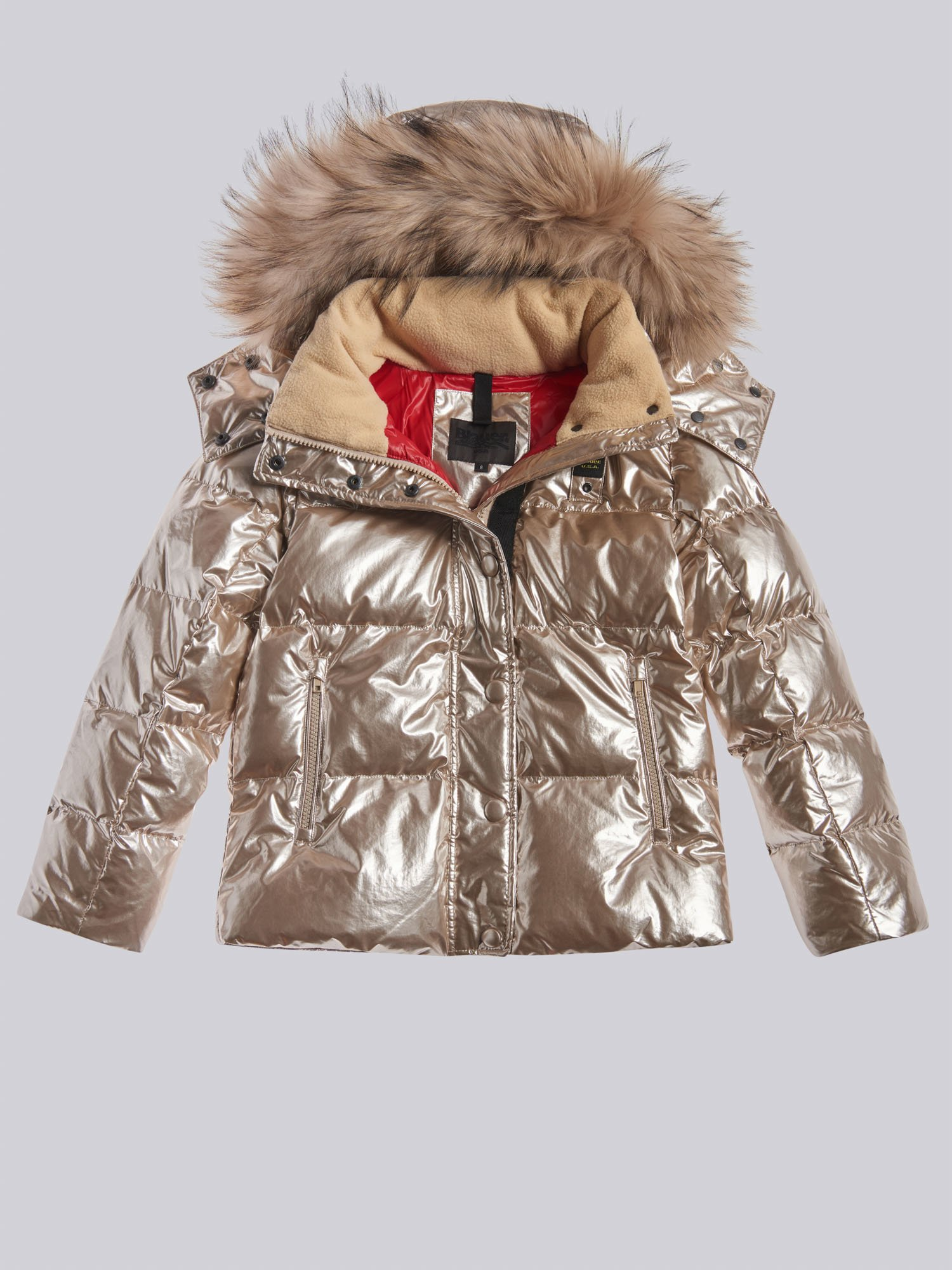 Blauer - TAMMY PEARL EFFECT DOWN JACKET - Burnished gold - Blauer