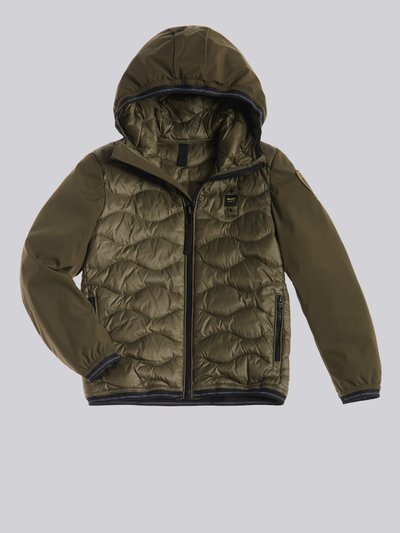NORMAN NYLON AND NEOPRENE DOWN JACKET