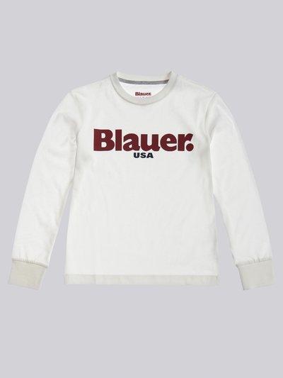 LANGARM-T-SHIRT BLAUER