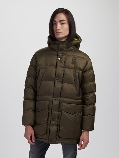 ROGER LONG JACKET IN NYLON WITH HOOD