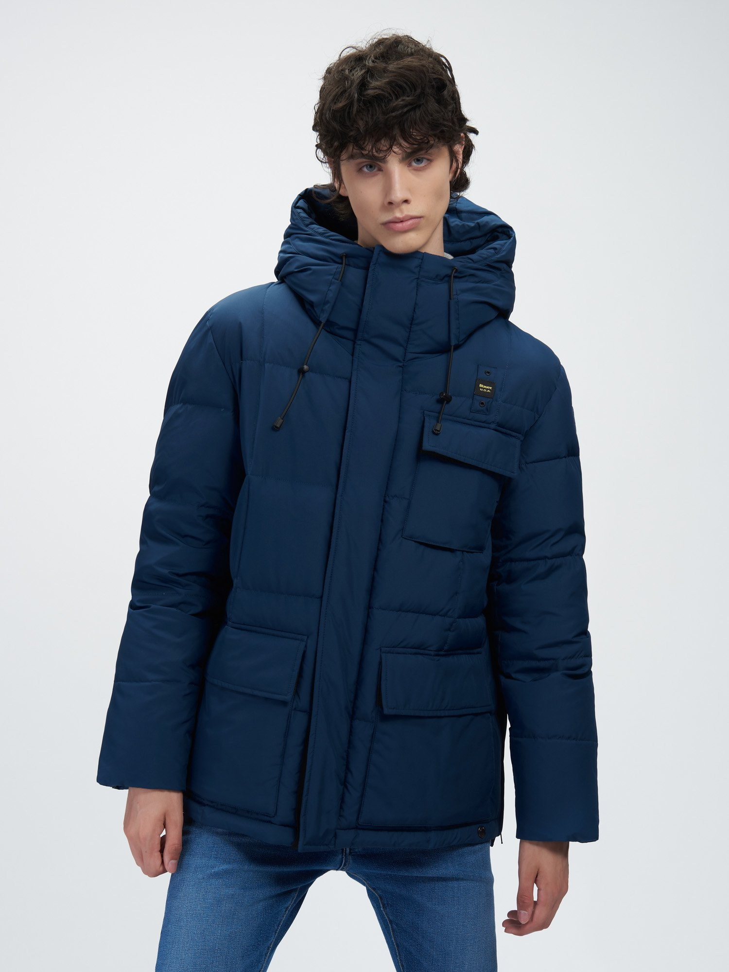 JO LONG DOWN JACKET WITH THREE POCKETS - Blauer
