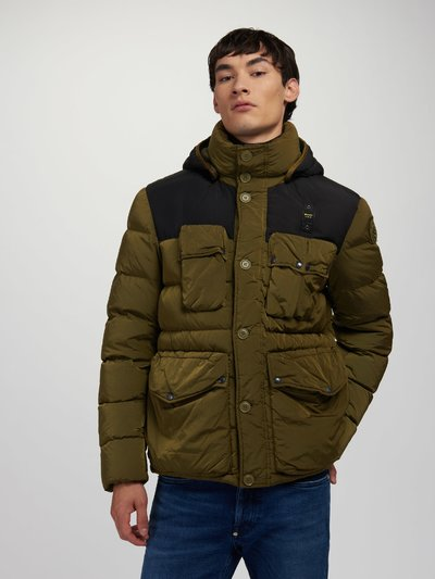 CARL DOWN JACKET IN NYLON AND TASLAN