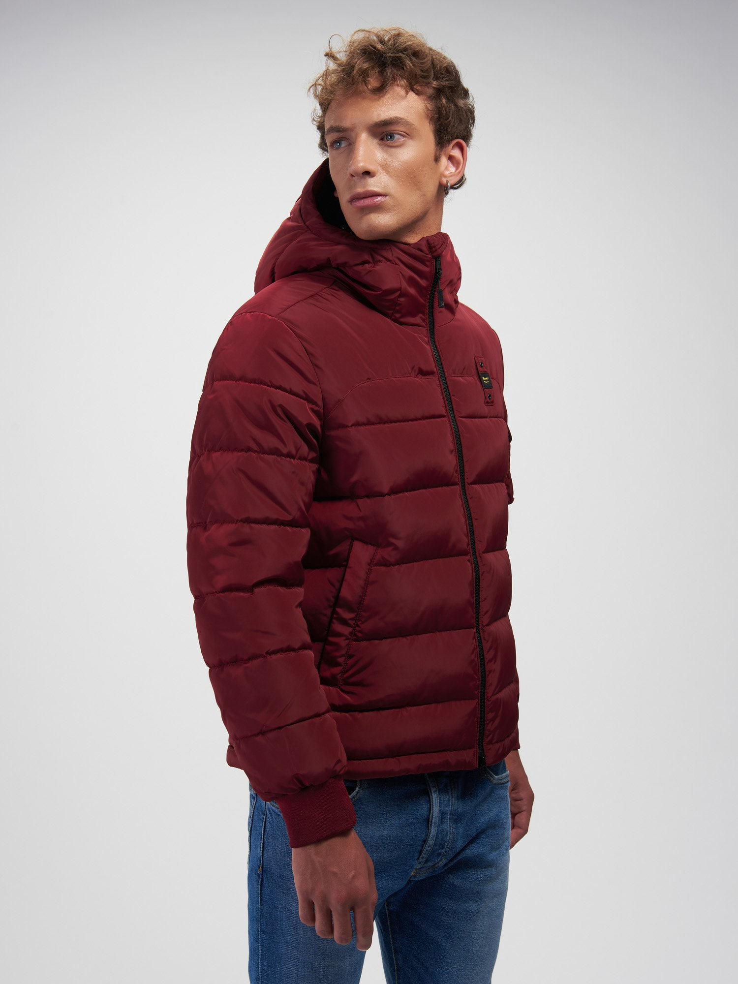 Blauer - RED RECYCLED PADDED JACKET - Chianti Wine - Blauer