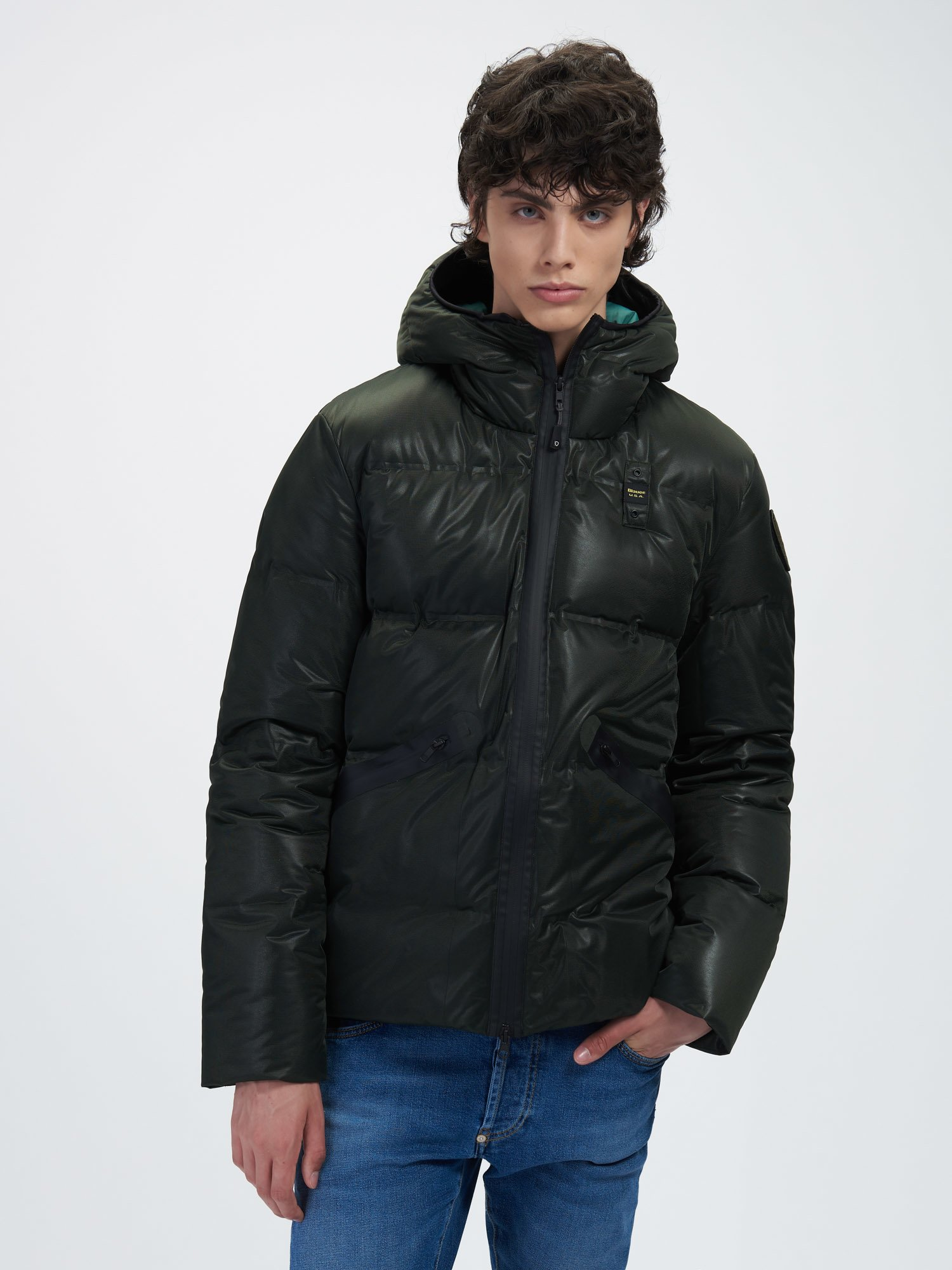 HOWARD DOWN JACKET WITH HEAT SEALED SEAMS - Blauer