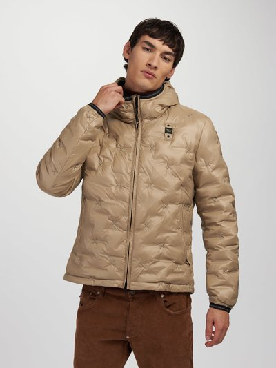JEREMY DOWN JACKET WITH STAGGERED PATTERN