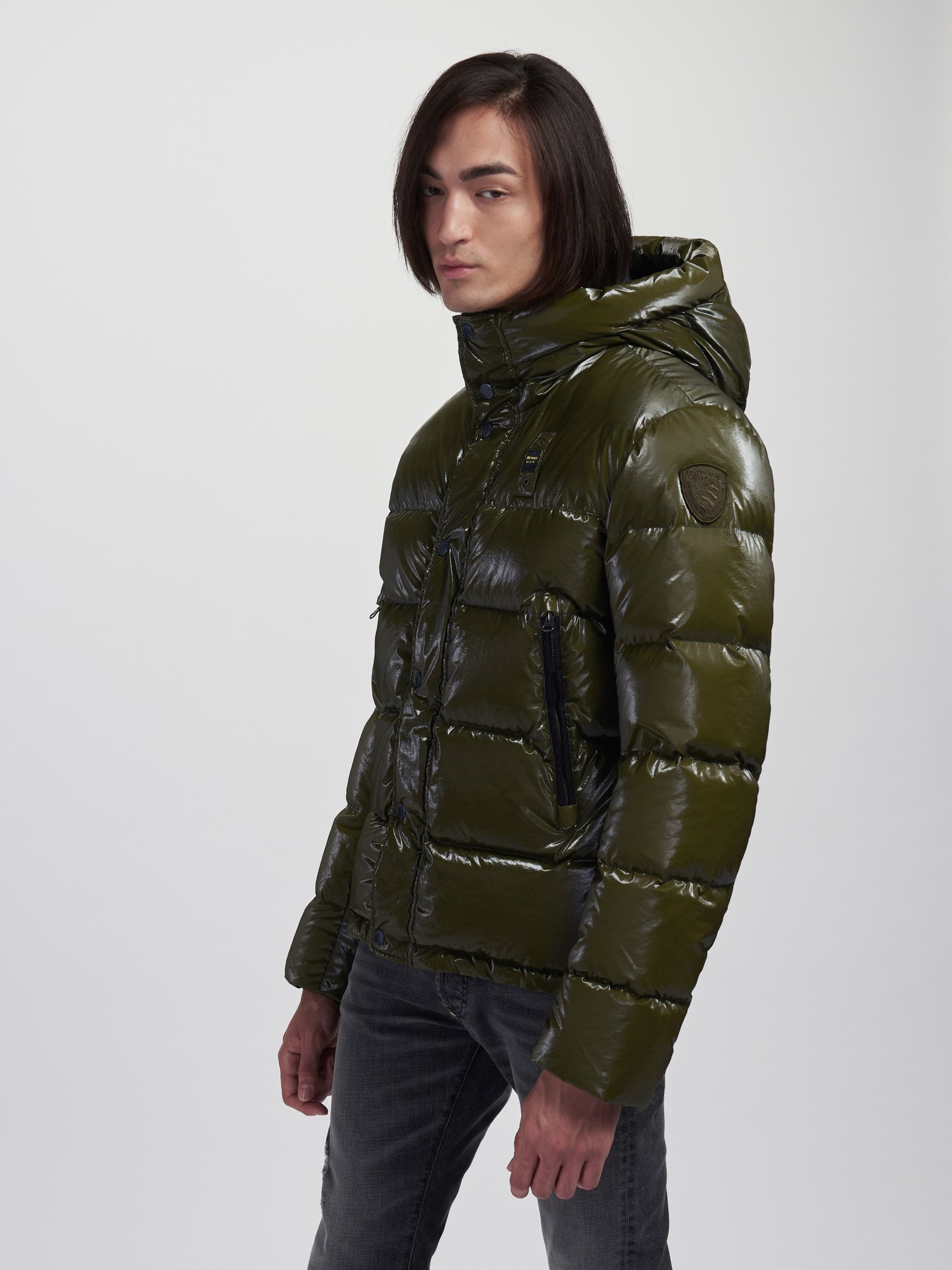 TERRY CAMOUFLAGE JACKET WITH HOOD - Blauer
