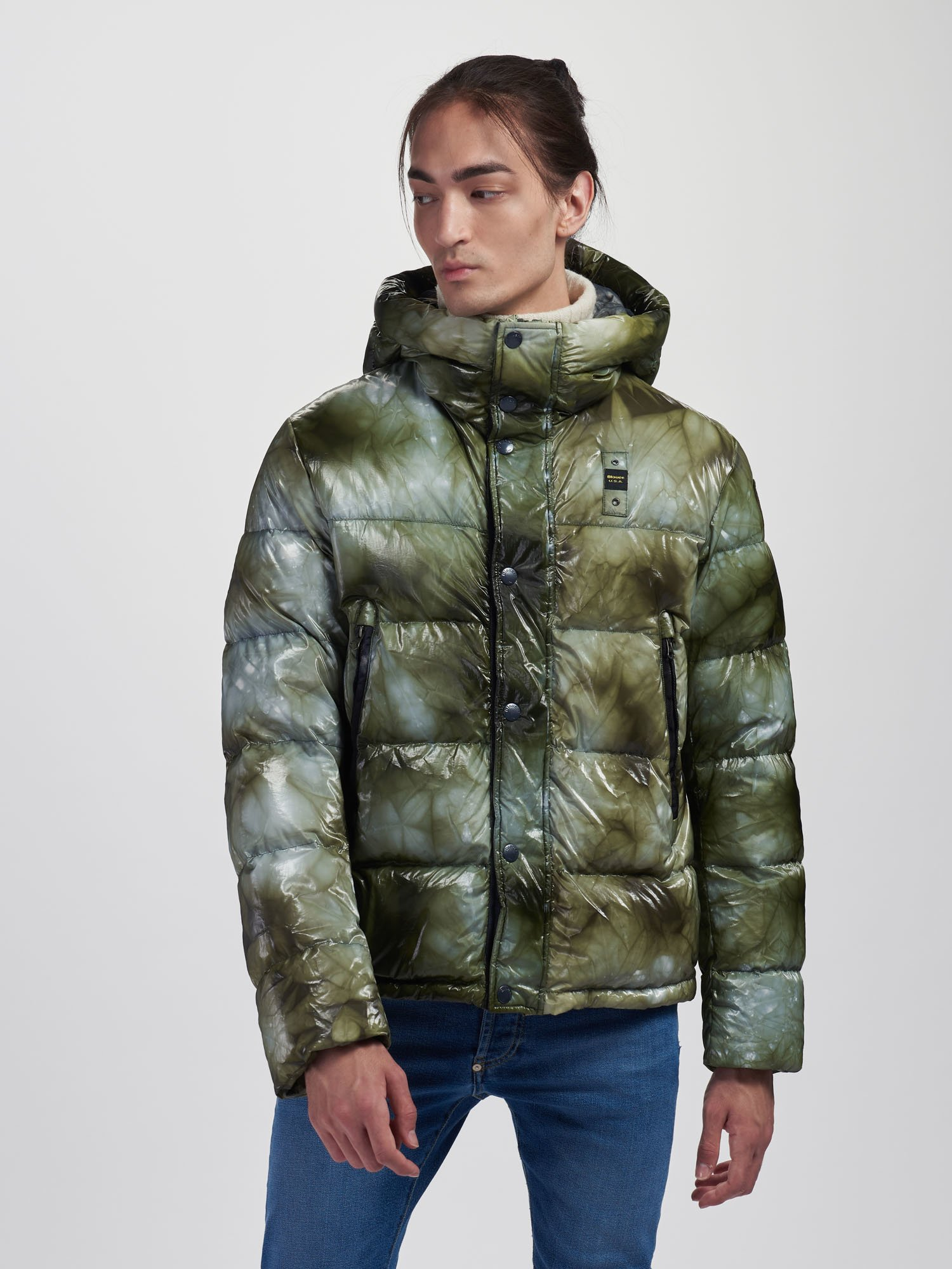 JUSTIN DOWN JACKET WITH HOOD - Blauer