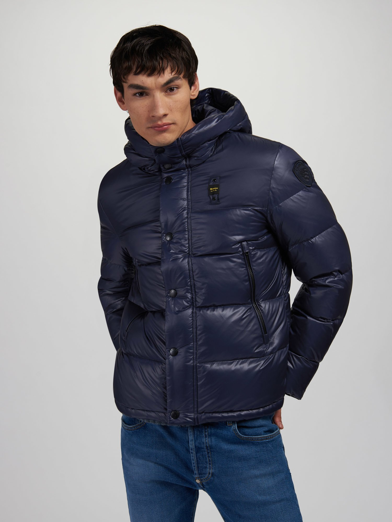 Blauer - KEITH ULTRA SHINY DOWN JACKET - blue - Blauer