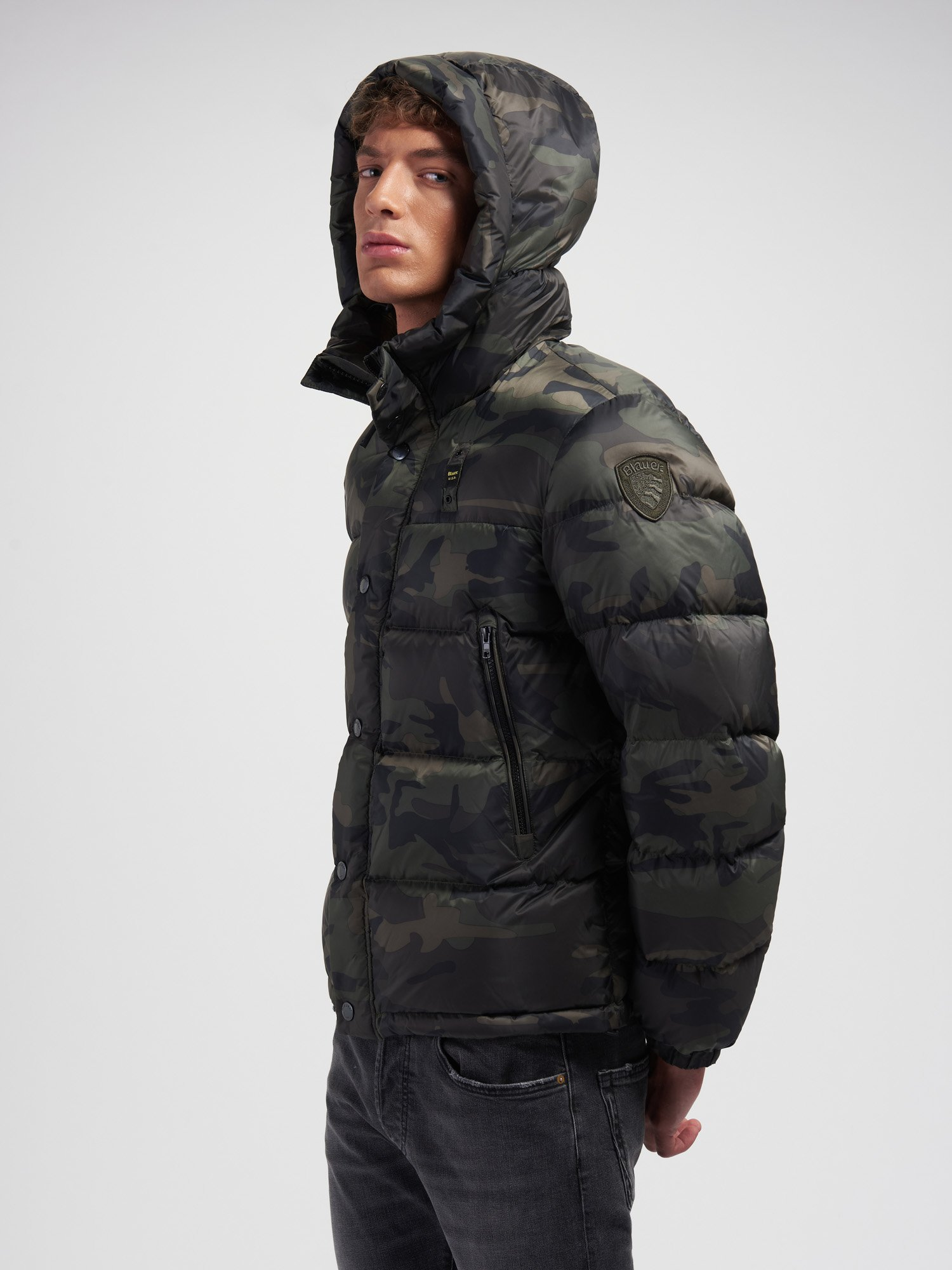 LOUIS CAMOUFLAGE DOWN JACKET - Blauer