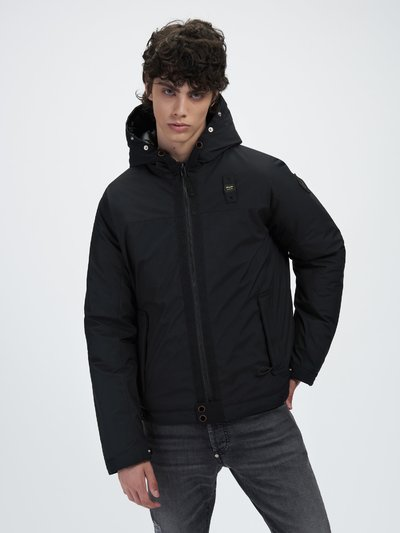 VICTOR DOWN JACKET IN NYLON-LINED NEOPRENE