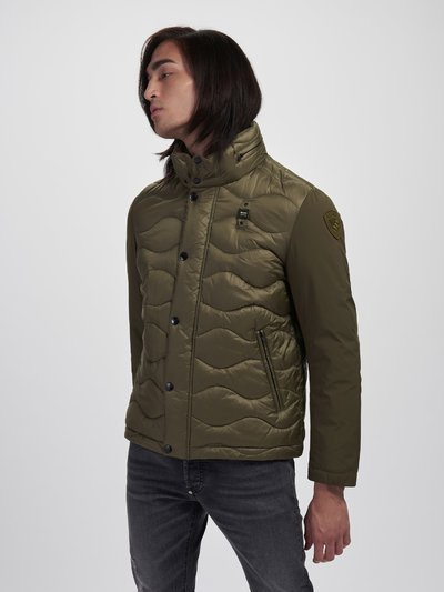 RUSSELL NYLON AND NEOPRENE DOWN JACKET
