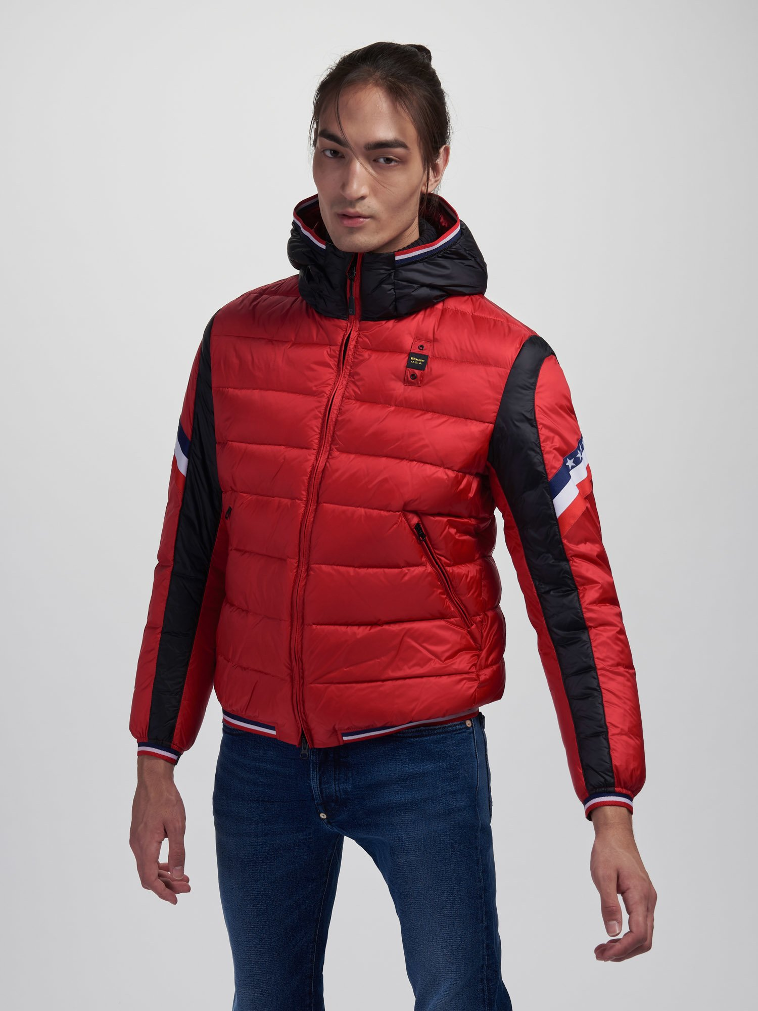 HARRY TWO-TONE USA DOWN JACKET - Blauer