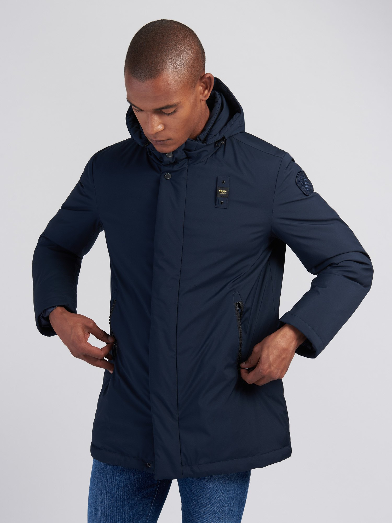 CLARENCE NYLON LONG DOWN JACKET - Blauer