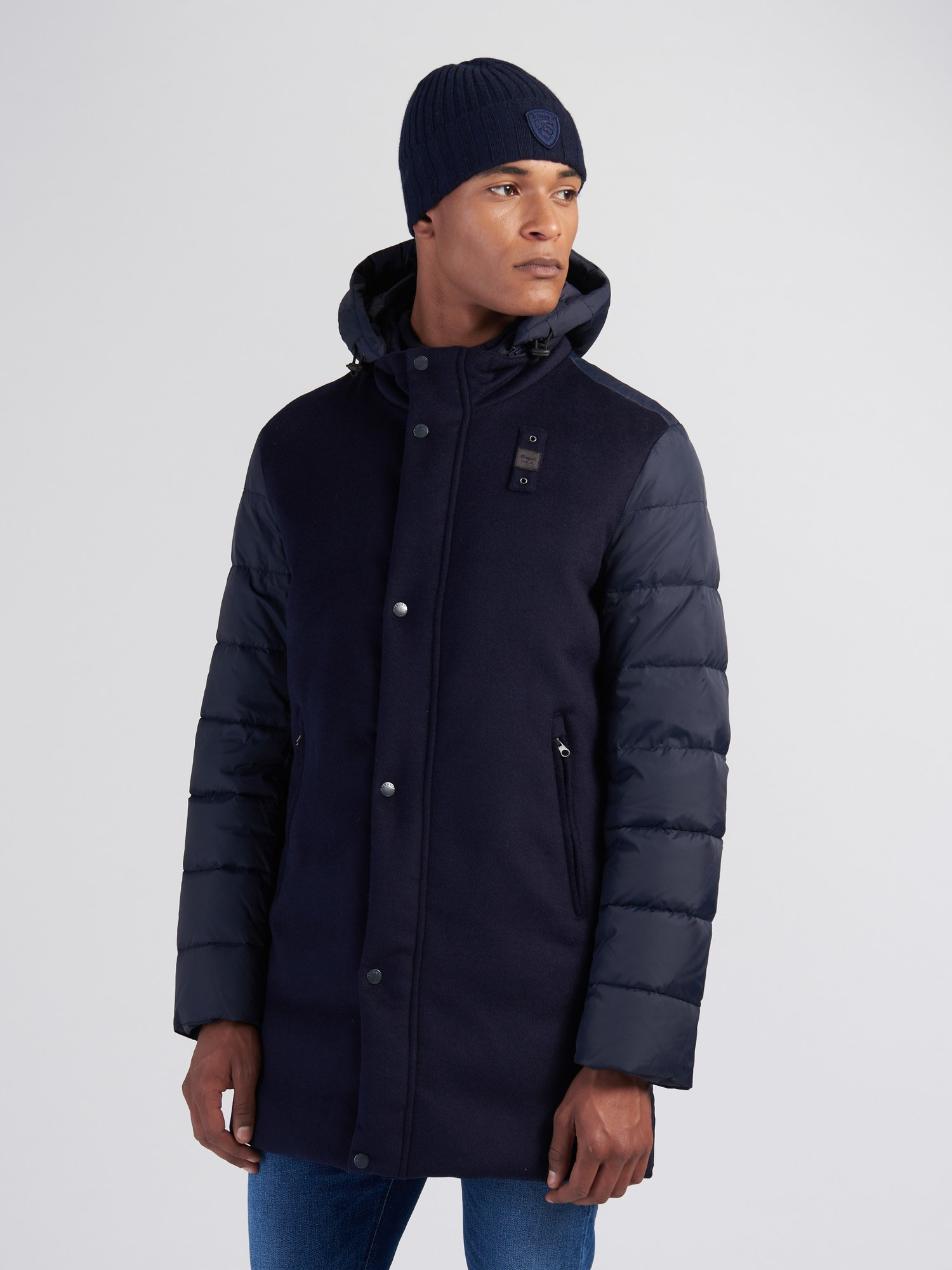 SHAWN WOOL AND NYLON DOWN JACKET - Blauer