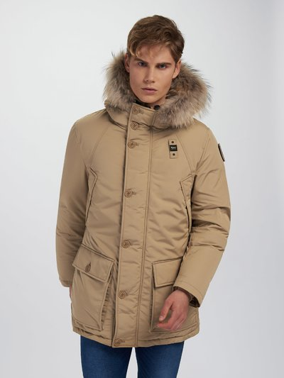 DANNY PARKA IN TASLAN WITH HOOD
