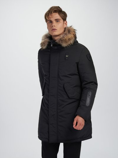 BRYAN LONG PARKA IN LIGHT TASLAN