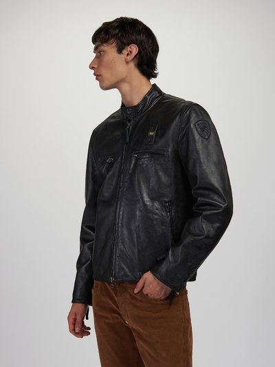 JERRY LINED LEATHER JACKET