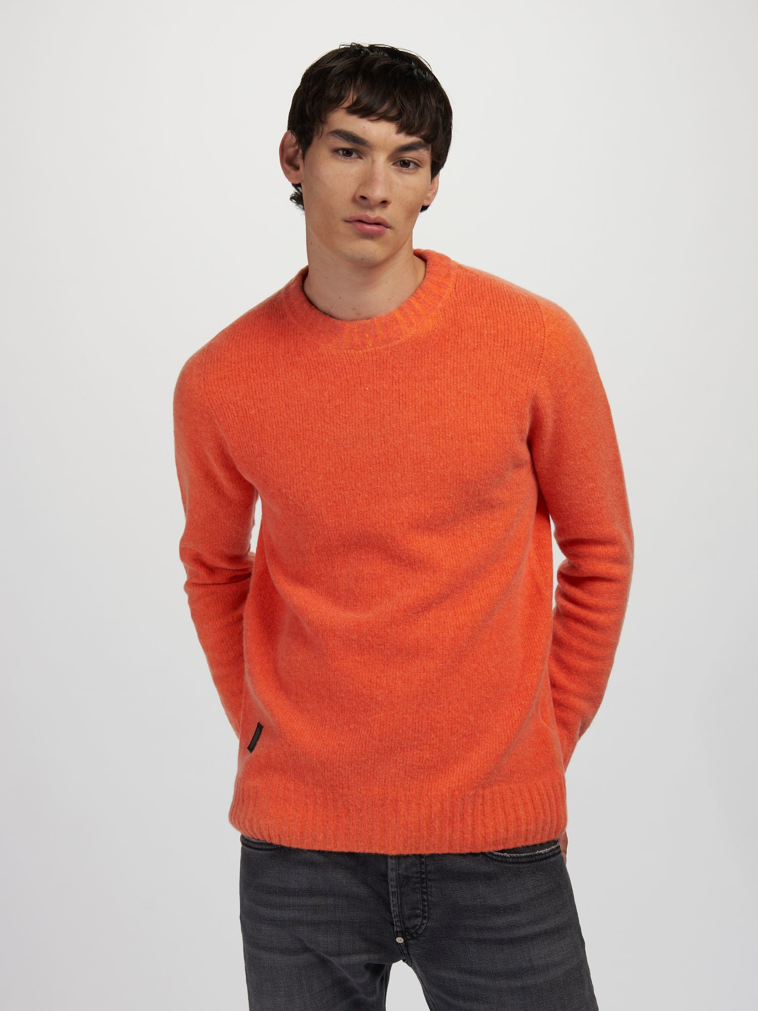 PULL COL ROND SOUPLE - Blauer