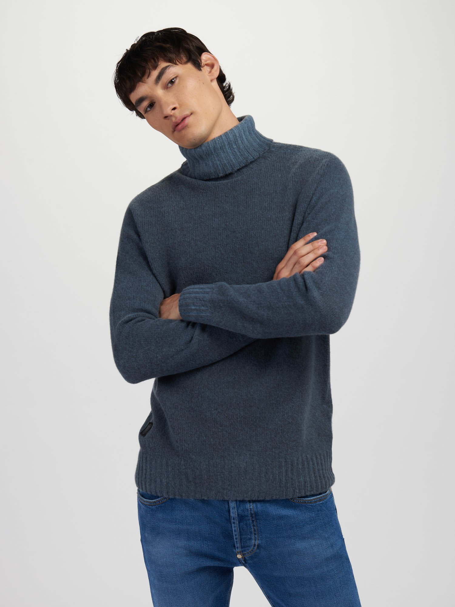 PULL COL MONTANT AVEC REVERS - Blauer