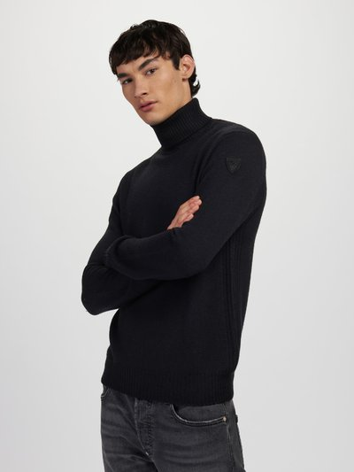 WOOL TURTLENECK WITH STRIPES