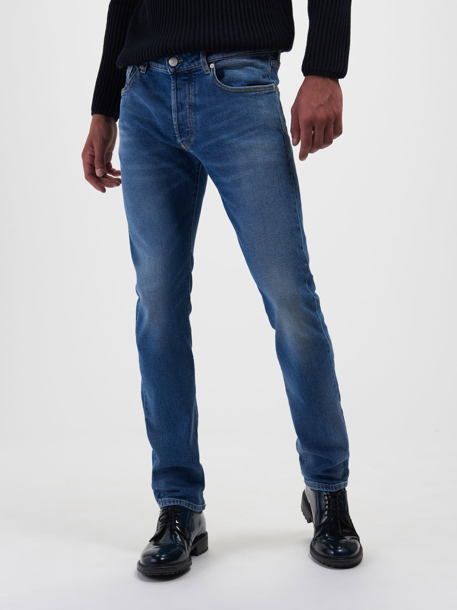 LIGHT BLUE STONE WASH JEANS - Blauer