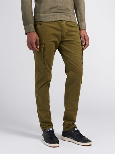 GARMENT-DYED STRETCH PANTS