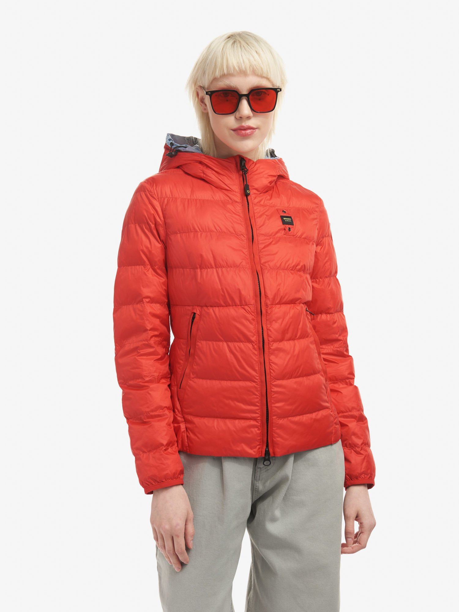 Blauer - GLADYS JACKET WITH ECO PADDING AND HOOD - Bright Red - Blauer