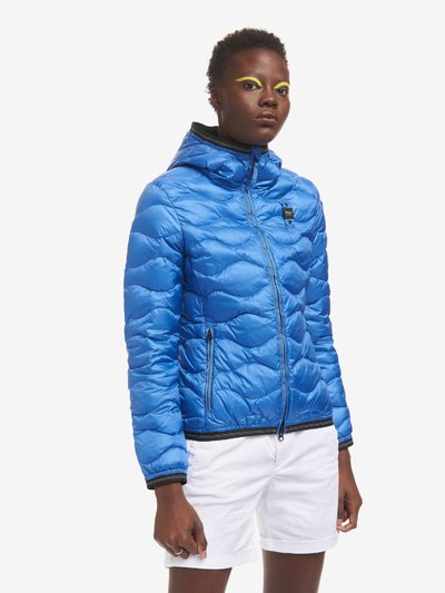 SARAH MONOCHROMATIC WAVE STITCHED DOWN JACKET