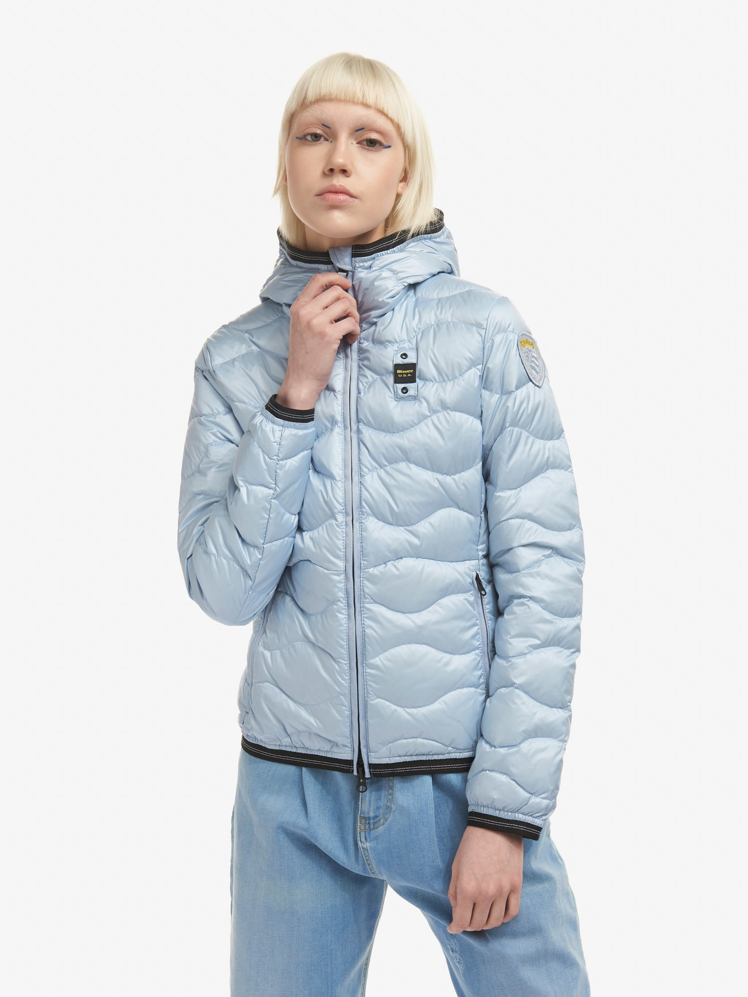 SARAH MONOCHROMATIC WAVE STITCHED DOWN JACKET - Blauer