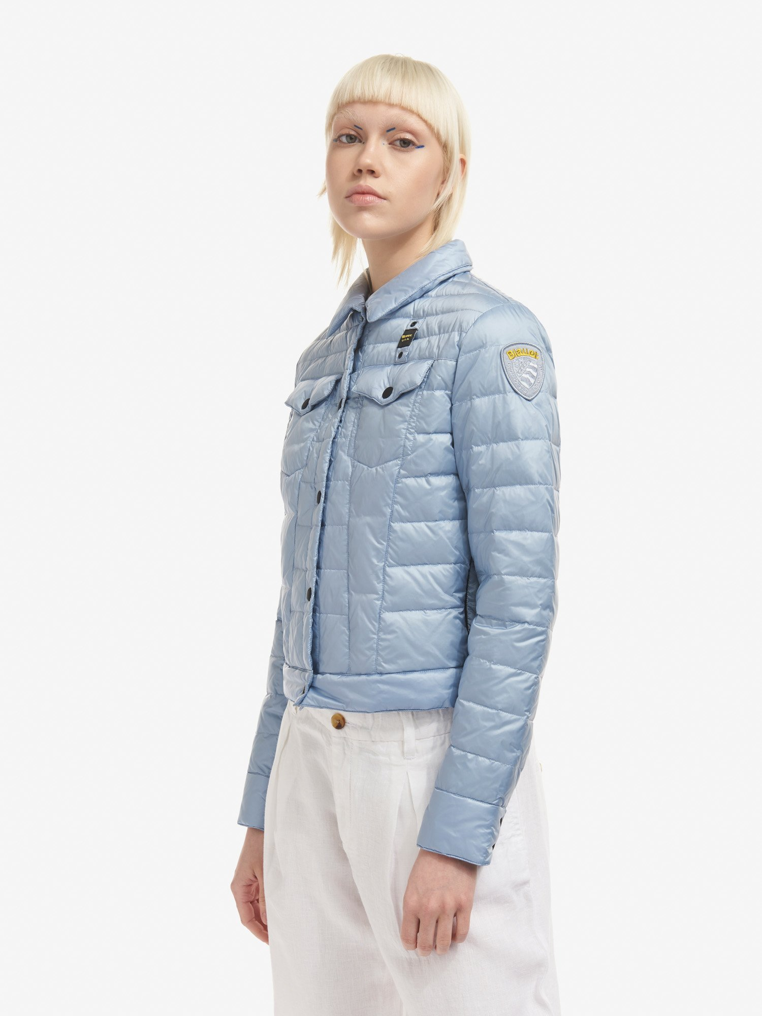 Blauer - JACQUELINE SHORT DOWN JACKET - Deep Blue - Blauer